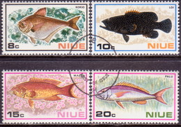 NIUE 1973 SG 175-78 Compl.set Used Fishes
