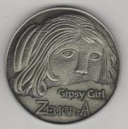 TURQUIE,TURKEI TURKEY CIPSY GIRL ZEUGMA  BIMEATAL COINS OR MEDAL - Turquie