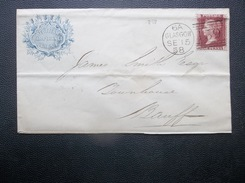 Great Britain: 1858 Cover To Banff (#KN7)