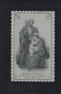 PETITE CPA CELLULOID CELLULOIDE DENTELEE - DORURE OR - ENFANT JESUS MARIE JOSEPH - Peinte à La Main ( 7 X 11 Cm ) -#475 - Jésus