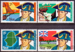 NIUE 1974 SG 182-85 Compl.set Used Captain Cook