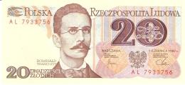 POLOGNE   20 Zlotych   1/6/1982   P. 149a   UNC - Pologne