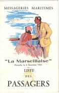 """Ensemble De 6 Photos + Une Brochure Liste Des Passagers De """"La Marseillaise"""" Ligne D'Indochine-Extrême Orient - Boats"""