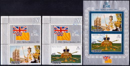 NIUE 1977 SG 213-15 Compl.set + M/s Used Silver Jubilee Margins