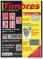 Timbres Magazine 2010  N° 118 : Les Blasons  , Lombardo Venetie , Carnet D'entier ,  La RGR 1 - Français (àpd. 1941)
