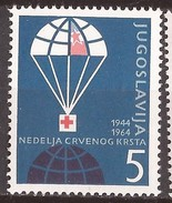 1964  30  ROT KREUZ  JUGOSLAVIJA  JUGOSLAWIEN  ERSTE HILFE  FALLSCHIRM PARACHUTE   MNH