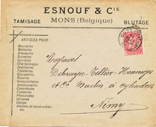 046/25 - BELGIUM - Lettre à Entete  Articles Pour Brasseries , Malteries , Sucreries , ... Esnouf § Cie MONS 1900 - Bières