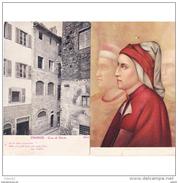 ITLATP1349CPA-LFTM9938TITFLO.TARJETA POSTAL DE ITALIA.ARTE.Pintura Y Foto. CASA Y RETRATO DE DANTE ALIGHIERI.Florencia - Firenze (Florence)
