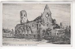 Nieuport: Ruines Des Halles Le 7/9/1916. Dessin De Wagemans. Carte Neuve - Guerre 1914-18