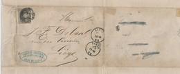 047/25 - BELGIUM - Lettre à Entete  Charbonnages , Hauts Fourneaux De GRIVEGNEE 1862 - TP Médaillon LIEGE - Minéraux
