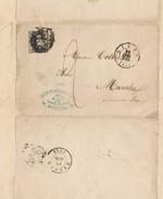 048/25 - BELGIUM - Lettre à Entete + Cachet Illustré  Houillière Gosson § Lagasse à MONTEGNEE 1852 - TP Médaillon LIEGE - Minéraux
