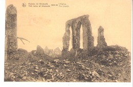 Guerre 1914-1918-Diksmuide-Dixmude-Ruines-L'Eglise-The Church-Edit. Nels - War 1914-18