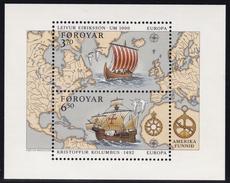 1992,  Färöer, 231/34 Block 5,   Europa: 500. Jahrestag Der Entdeckung Von Amerika, MNH **, - Féroé (Iles)