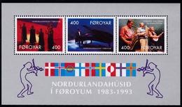 1993,  Färöer, 243/45 Block 6, 10 Jahre Haus Des Nordens, Torshavn. MNH **, - Féroé (Iles)