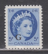 CANADA Scott # O44 MH - QEII Definitive With G Overprint - Officials