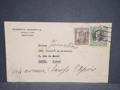 CHILI - Enveloppe De Santiago Pour Paris En 1934 , Affranchissement Plaisant - L 6383 - Chile