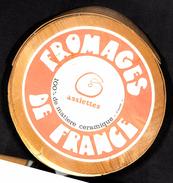 6 Assiettes à Fromage 100 % Céramique - Faïence De St Amand - Roquefort - Bleu D'Auvergne - Pont L'Évêque - Camembert.. - Borden