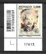 Monaco 2015 - Yv N° 3004 ** - CENTENAIRE DE LA PUBLICATION DES TRAVAUX D´EINSTEIN SUR LA RELATIVITÉ GÉNÉRALE - Unused Stamps