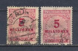 Duitse Rijk/German Empire/Empire Allemand/Deutsche Reich 1923 Mi: 317A P+W Yt: 298 (Gebr/used/obl/o)(1884) - Duitsland