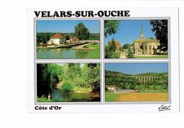 21 - VELARS SUR OUCHE - Côte D´Or - Canal De Bourgogne Péniche écluse Viaduc - 1991 - France