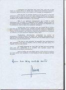 """Autographe  / Homme Politique / Ministre Et Président """"Jacques Chirac """" Sur Document De 1990 - Autographes"""