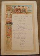 Menu Du « Tonkin » Messageries Maritimes 5 Août 1902 - Menus
