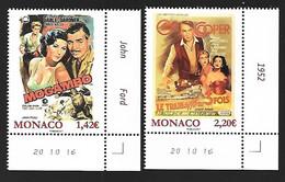 Monaco 2017 - Yv N° 3064 & 3065 ** Les Films De Grace Kelly - Mogambo Et Le Train Sifflera 3 Fois (Mi N° 3322/23) - Unused Stamps