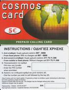 GREECE - Cosmos Card, Amimex Prepaid Card 5 Euro, Sample - Greece