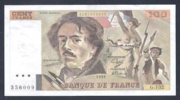"""BILLET DE 100 FRANCS """"DELACROIX"""" DE 1989 G.132  F 69 13a - 1962-1997 ''Francs''"""