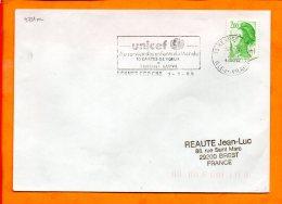 ILLE ET VILAINE, Rennes, Flamme SCOTEM N° 9721m, UNICEF Au Service Des Enfants Du Monde - Oblitérations Mécaniques (flammes)