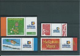 """FRANCE - ANNEE 2003 - Les 4 Timbres Personnalisés """"Timbres Personnalisés"""". - Personalized Stamps"""