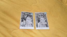 LOT DE 2 CARTES POSTALES ANCIENNES CIRCULEES DATE ?. / SERIE QUI NE DIT MOT / PONCENT ! / CACHET + TIMBRE - Femmes