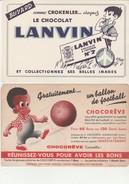 LOT DE 4 BUVARDS CHOCOLAT - SUCHARD-POULAIN -LANVIN- CHOCOREVE - - Chocolat