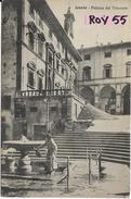Toscana-arezzo Palazzo Del Tribunale Veduta Fontana Donna Prendere Acqua Anni 20/30 - Arezzo