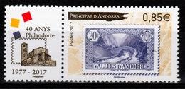 Andorra (French Adm.), Philandorre, Philatelic Association, 2017, MNH VF - French Andorra