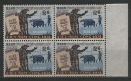 VIETNAM DU SUD:  N°394a ** (1970 !) En Bloc De 4 BdF, TB. Cote 88€ - Viêt-Nam