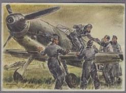 Messerschmitt Bf 109 Jäger  Patriotik Propaganda   1940y.  Feldpost Nr. 24448  D481 - 1939-1945: 2nd War