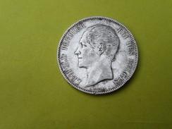 PIECE ARGENT 5 FRANCS  LEOPOLD PREMIER ROI DES BELGES- 1865-   25 GRS - 11. 5 Francs