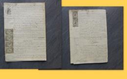 86 POITIERS 1876 Incendie épicerie Pinaudeau, TIMBRES FISCAUX  ; Ref 287 VP 26 - Historical Documents