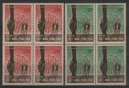 VIETNAM DU SUD:  N°309A/309B ** En Blocs De 4, TB. Cote 176€ - Vietnam