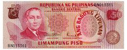 PHILIPPINES 50 PISO ND(1970) Pick 156b Unc - Philippines