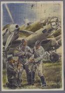 Heinkel He 111  Patriotik Propaganda 1940y. Gelaufen   D482 - 1939-1945: 2nd War