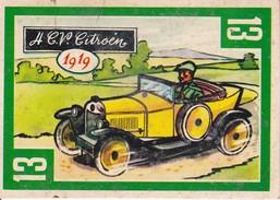 CHROMOS. Les Vieilles Automobiles.  N°13  4 C.V  CITROEN  1919...T342 - Chromos