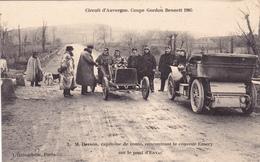 CPA Coupe Gordon Bennett 1905 M. Desson Rencontrant Le Coureur EMERY Sur Le Pont D' ENVAL - Non Classificati