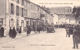 CPA Coupe Gordon Bennett 1905 PONTAUMUR Départ De M. Burton - Non Classificati