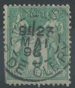 Lot N°35782   N°75, Oblit Cachet à Date De PARIS ( R. De Cléry) - 1876-1898 Sage (Type II)