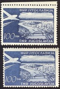 JUGOSLAVIA - ERRORS  COLORS - LIGHT BLUE + DARK B.  - **MNH - 1951 - Non Dentellati, Prove E Varietà