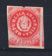 ARGENTINA02) 1863 - 5 Cent. Rose SCOTT 7C MLH - Argentina