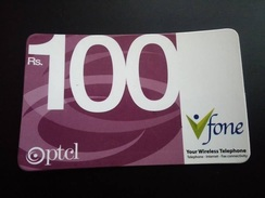 Pakistan PTCL Vfone Phone Card Rs 100, Used,As Per Scan