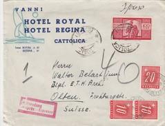 Italie Lettre Par Exprès Taxée En Suisse 1949 - 6. 1946-.. Repubblica